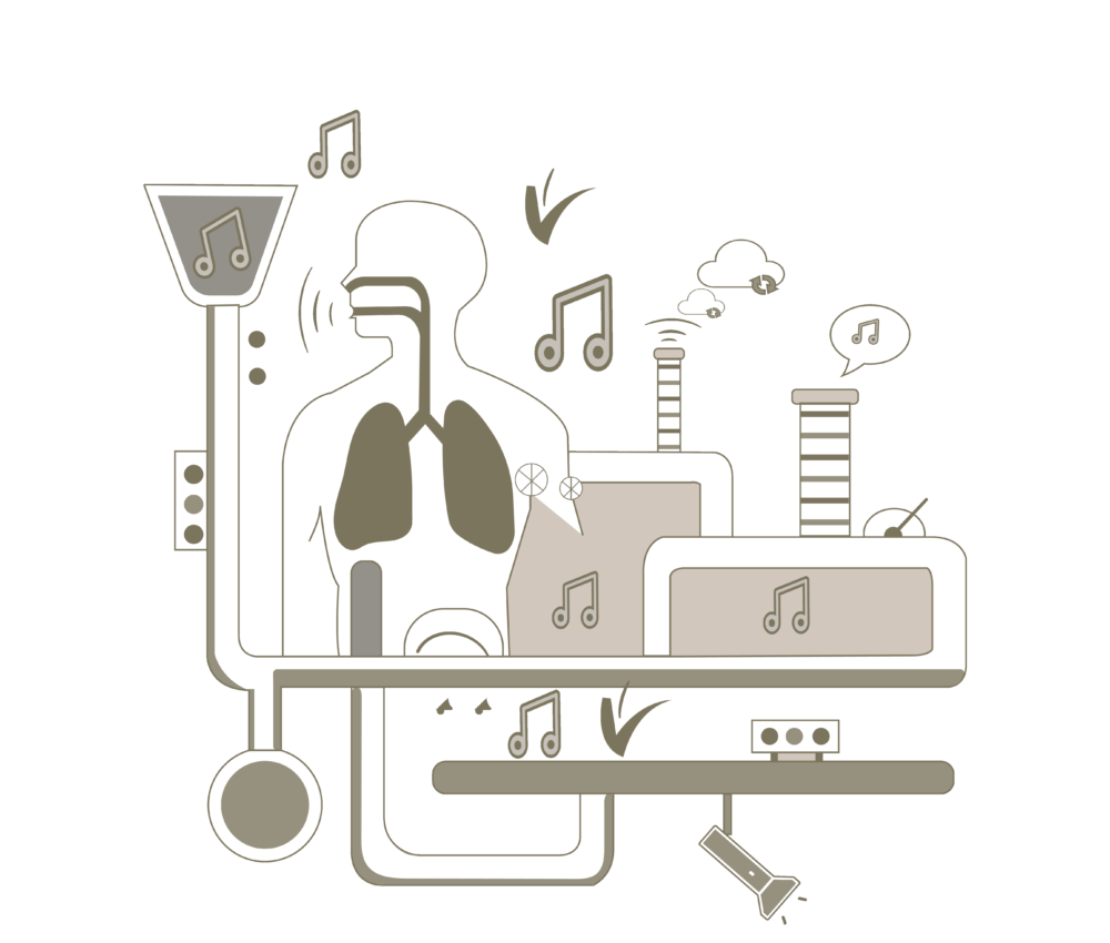 vocal manufactory Gesangsunterricht Illustration